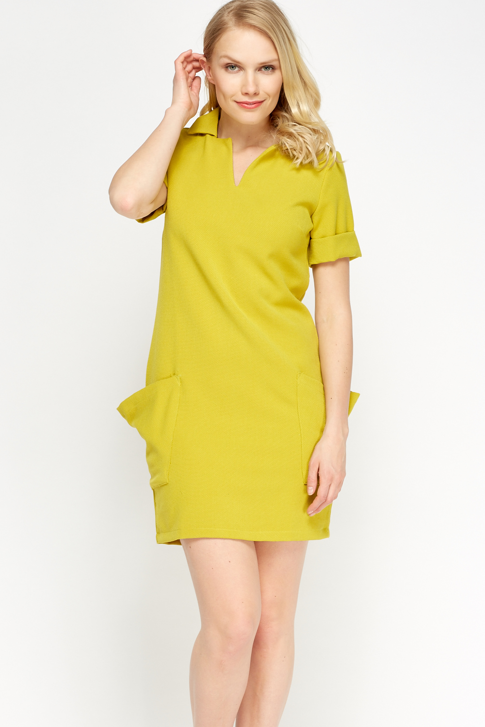 Pocket side t shirt dress just 5 for Dress shirt no pocket