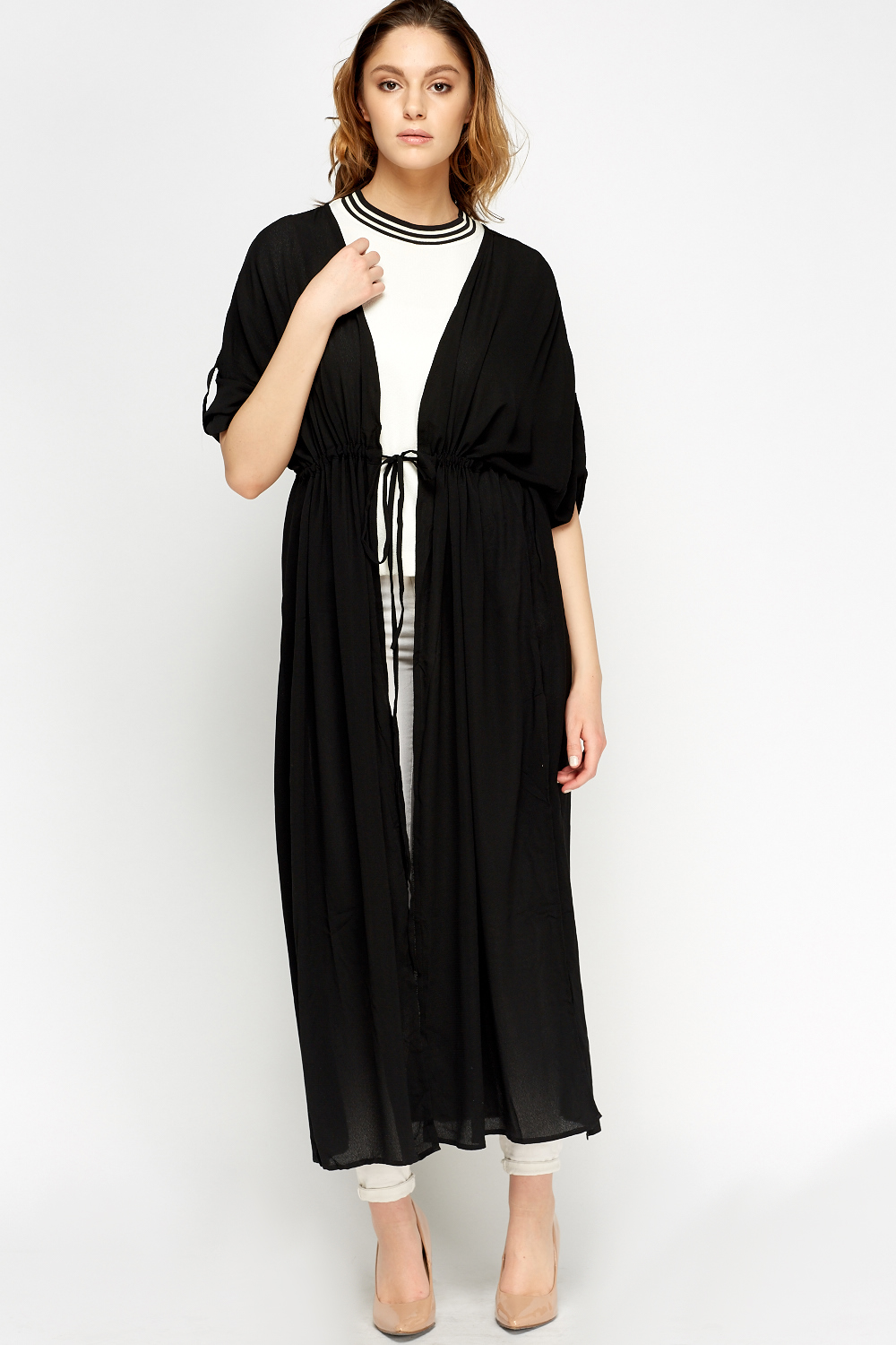Slit Side Long Sheer Cardigan - Just £5