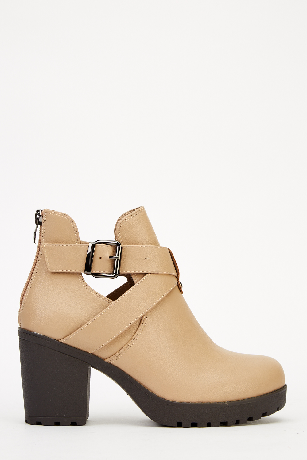 block heel cut out ankle boots just 163 5