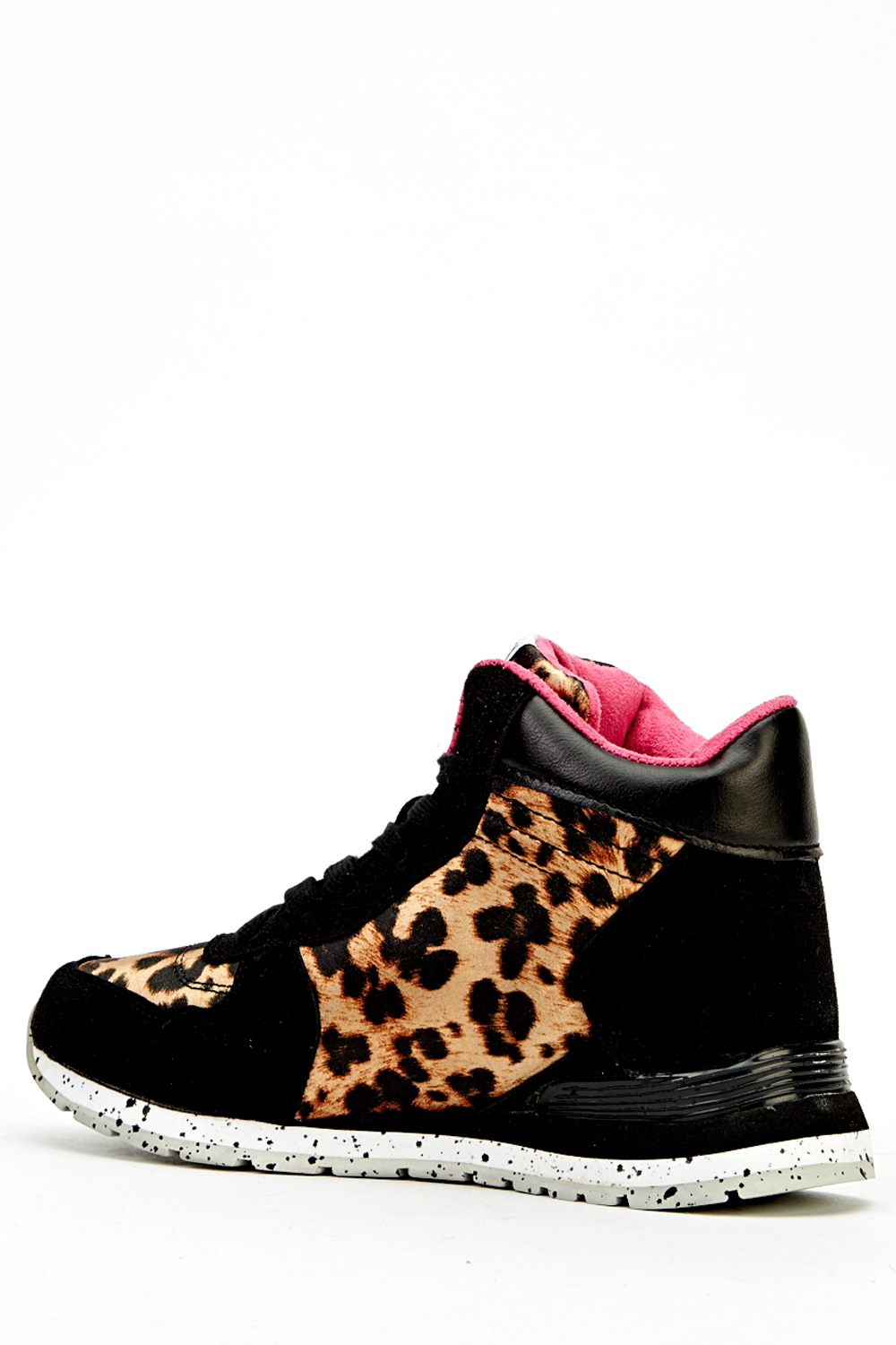 Leopard Print Contrast High Top Trainers Just 163 5