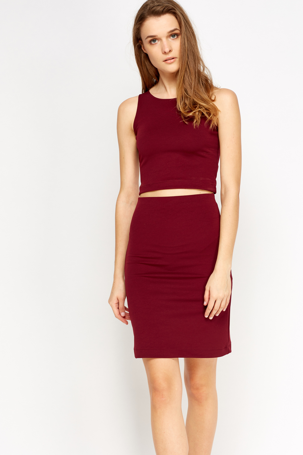 Crop Top And Skirt Co-Ord Set - Just £5