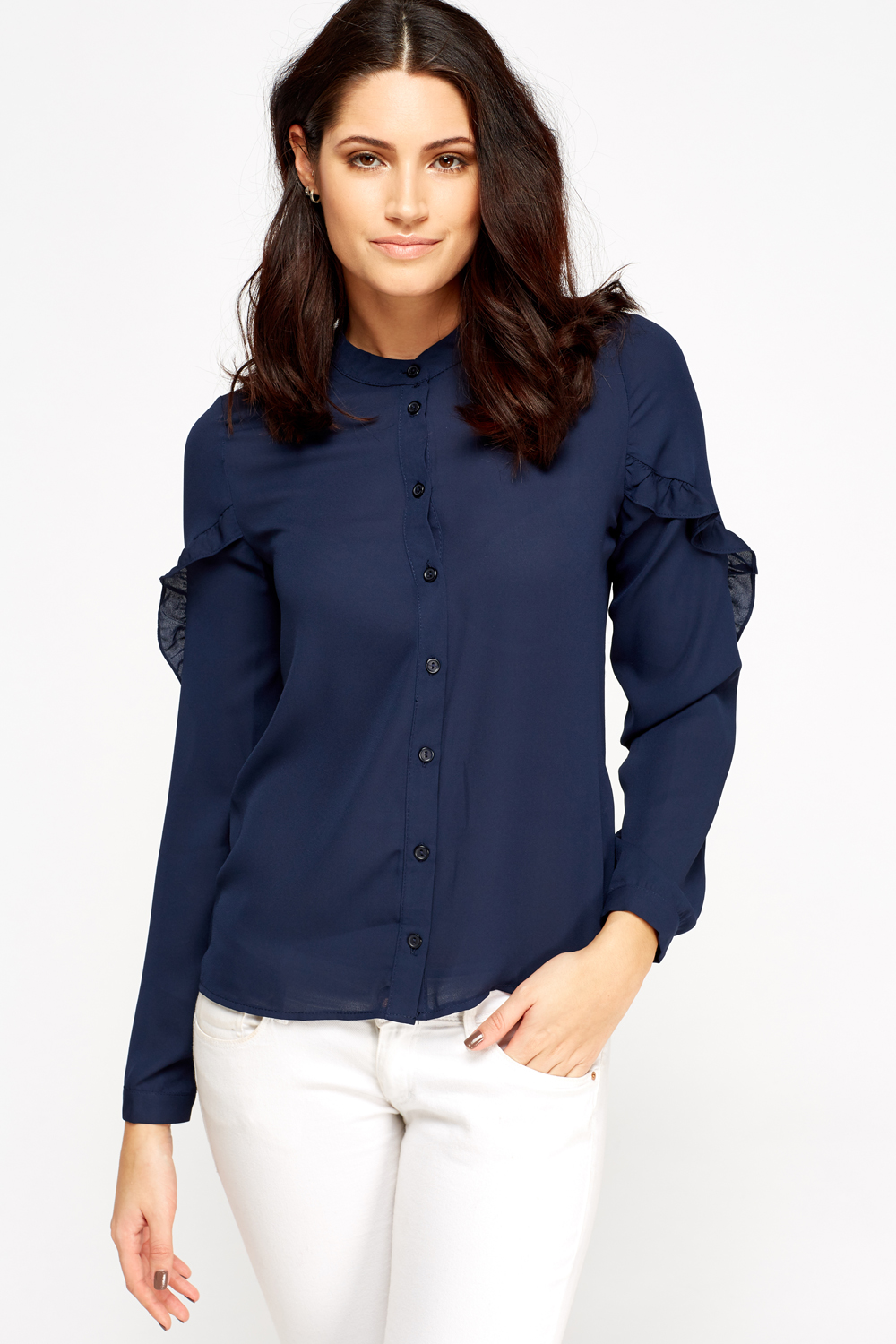 9f1ea5d29a Flared Sleeve Button Up Blouse - Just £5