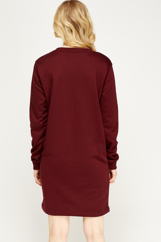 Burgundy Jumper Dress Just 163 5