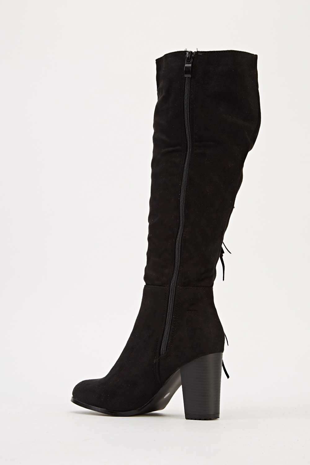 fringed side knee high boots just 163 5