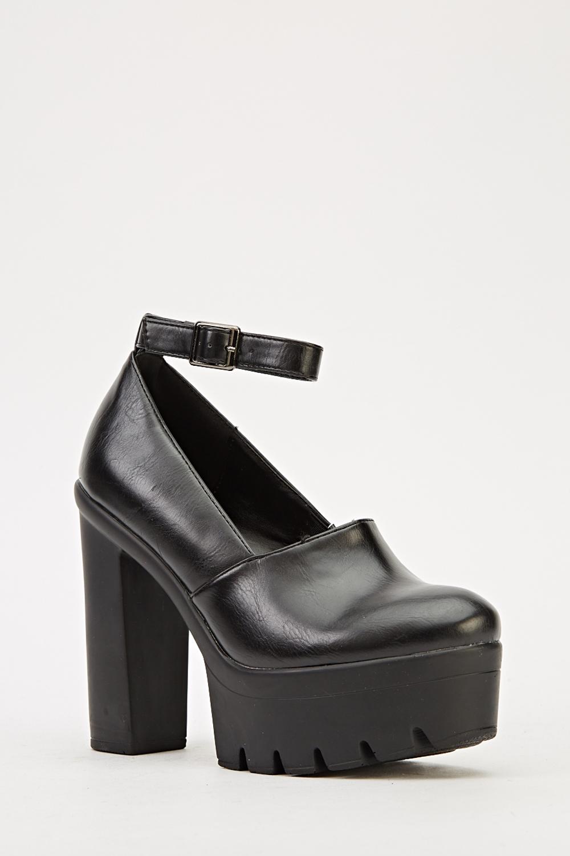 Ankle Strap Platform Shoes - Just $1
