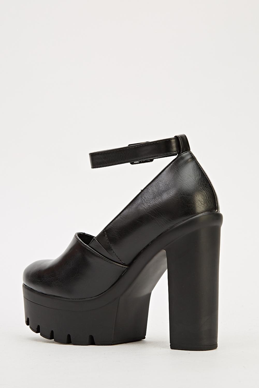 de800f2ebbec Ankle Strap Platform Shoes - 3 Colours - Just £5