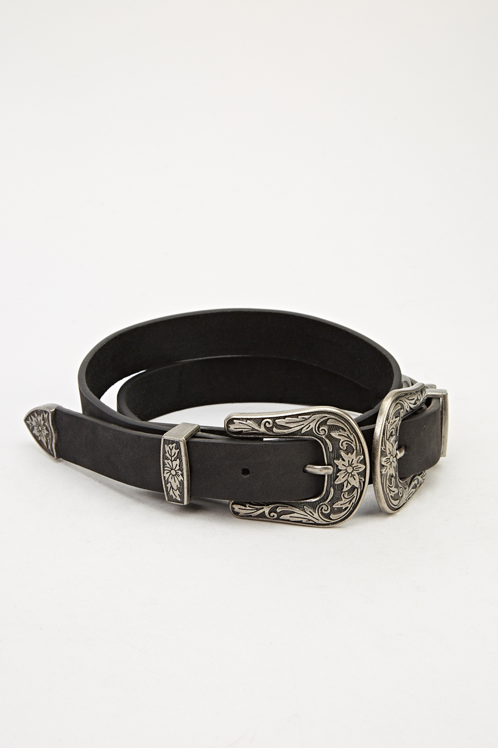 faux leather detailed belt just 163 5