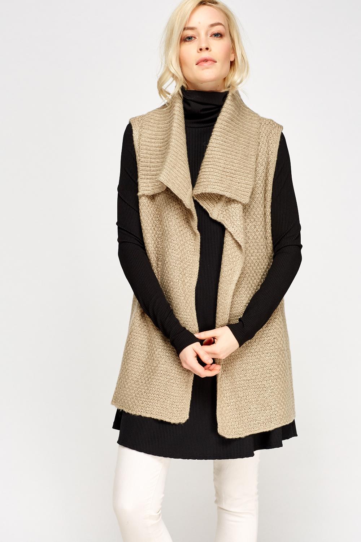 a646c7d931 Grey knitted sleeveless cardigan grey jpg 1000x1500 Sleeveless knit cardigan