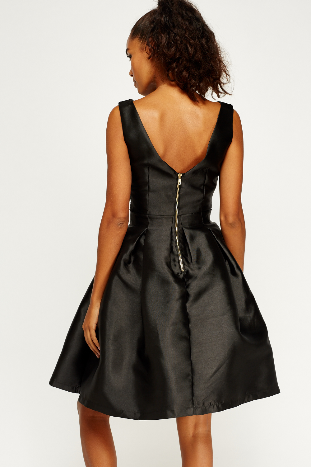 Satin Bow Puff Skater Dress Just 163 5