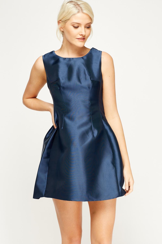 fae51bdd91 Mini Satin Skater Dress - Just £5