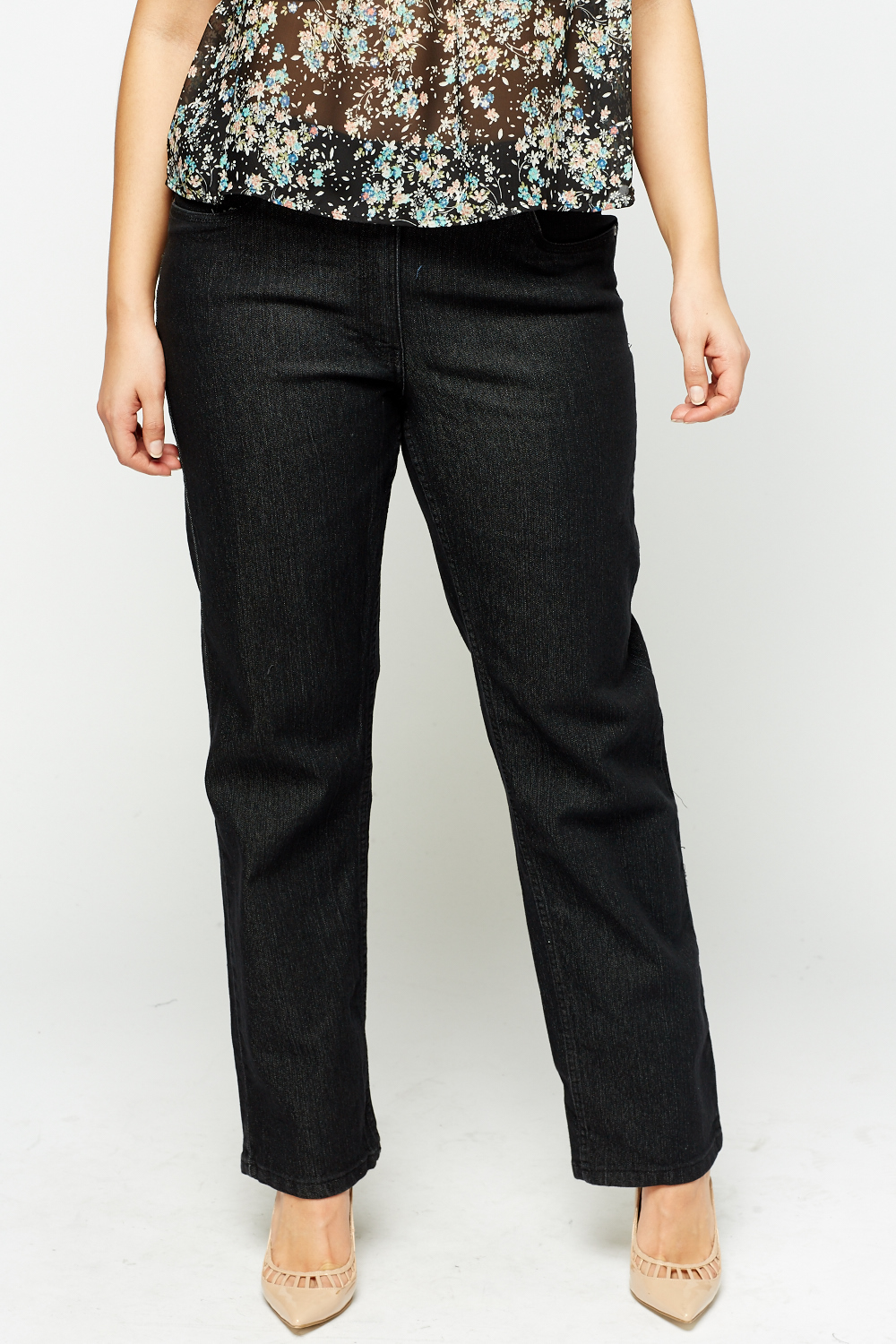 Product - FLYING MONKEY Womens Black Frayed Straight leg Jeans Size: 27 Waist. Product Image. Product - RALPH LAUREN Womens Black Straight leg Jeans Size: Product Image. Price $ Product Title. RALPH LAUREN Womens Black Straight leg Jeans Size: Add To Cart. There is a problem adding to cart. Please try again.