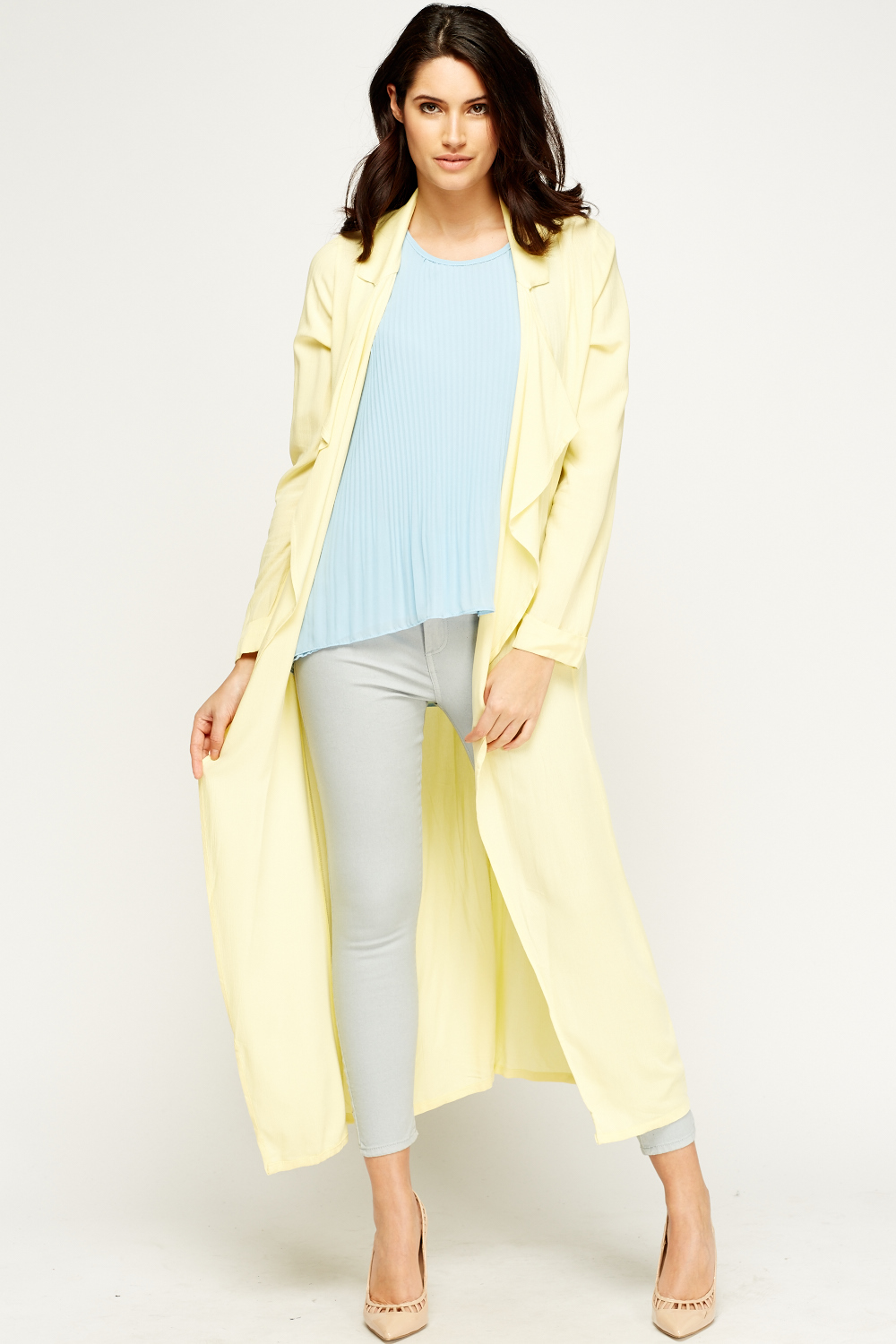 Flare Off White Long Cardigan - Just £5