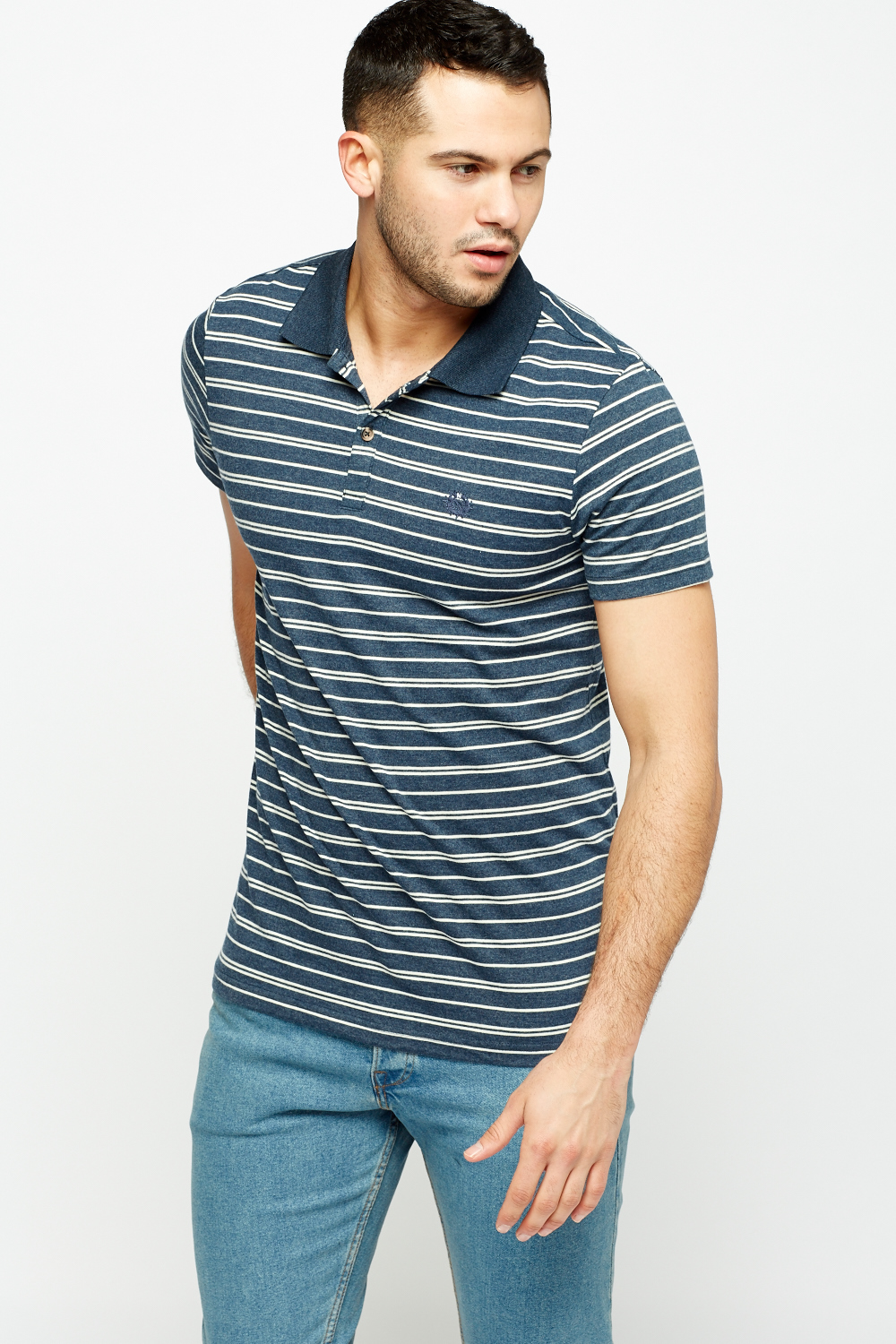 Striped Polo T-Shirt - Just £5