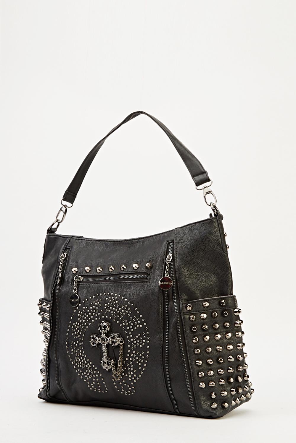 studded spike embellished bag just 163 5