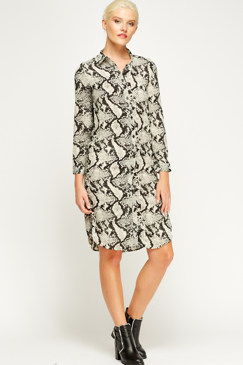 bf1bd14d4d Animal Print Long Shirt Dress - Just £5