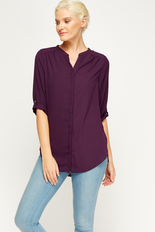 Purple Basic Blouse