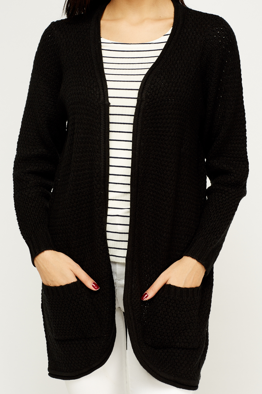 Open Front Knitted Cardigan - Just ?5