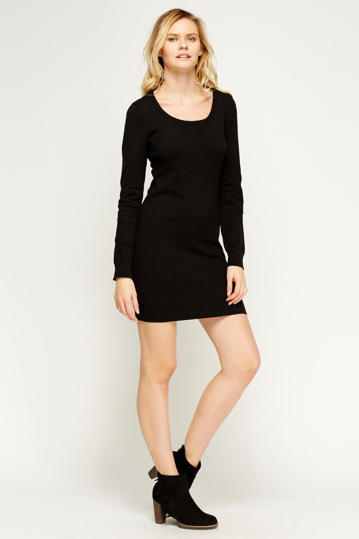 Basic Long Jumper Dress - Just U00a35