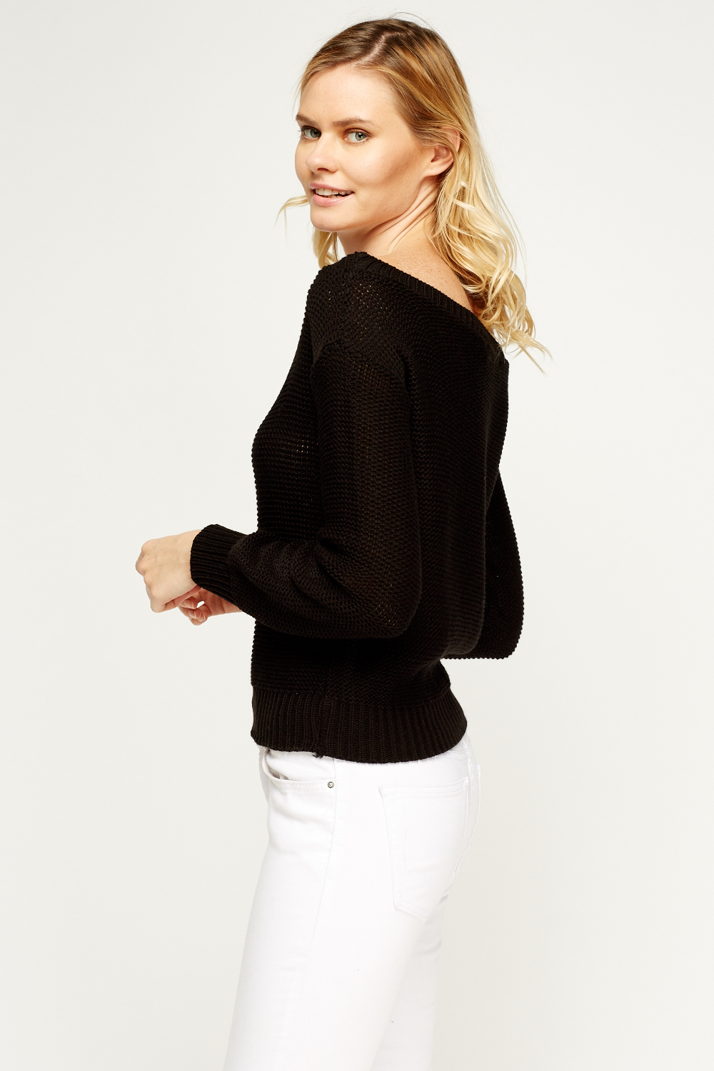 Loose Knit Off Shoulder Jumper Just 163 5