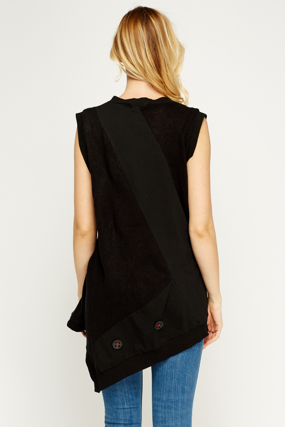 Sleeveless Asymmetric Top Just 163 2