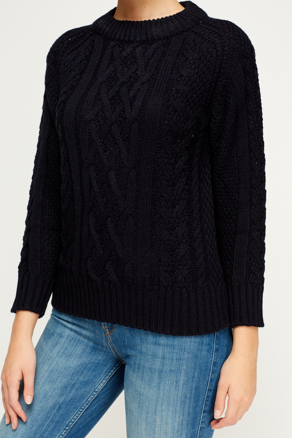 Cable Knit Casual Jumper - Just ?2
