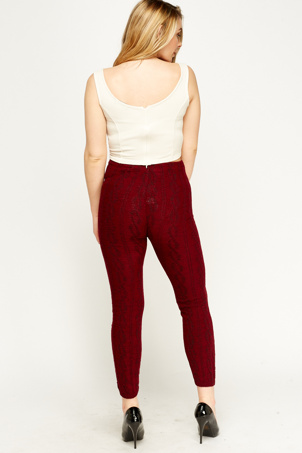 Cable Knit Leggings Just 163 5