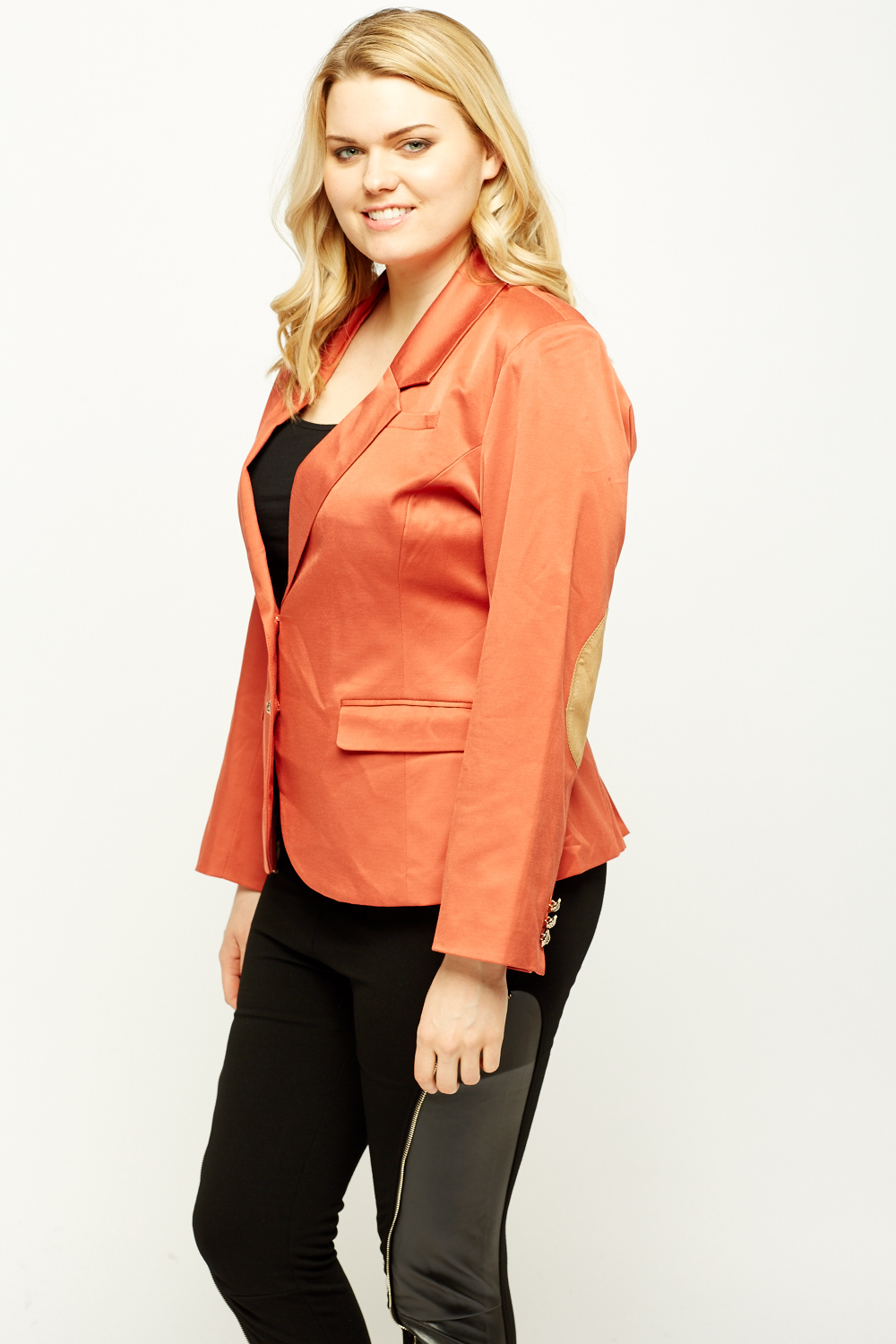Elbow Patch Fitted Blazer Just 163 5
