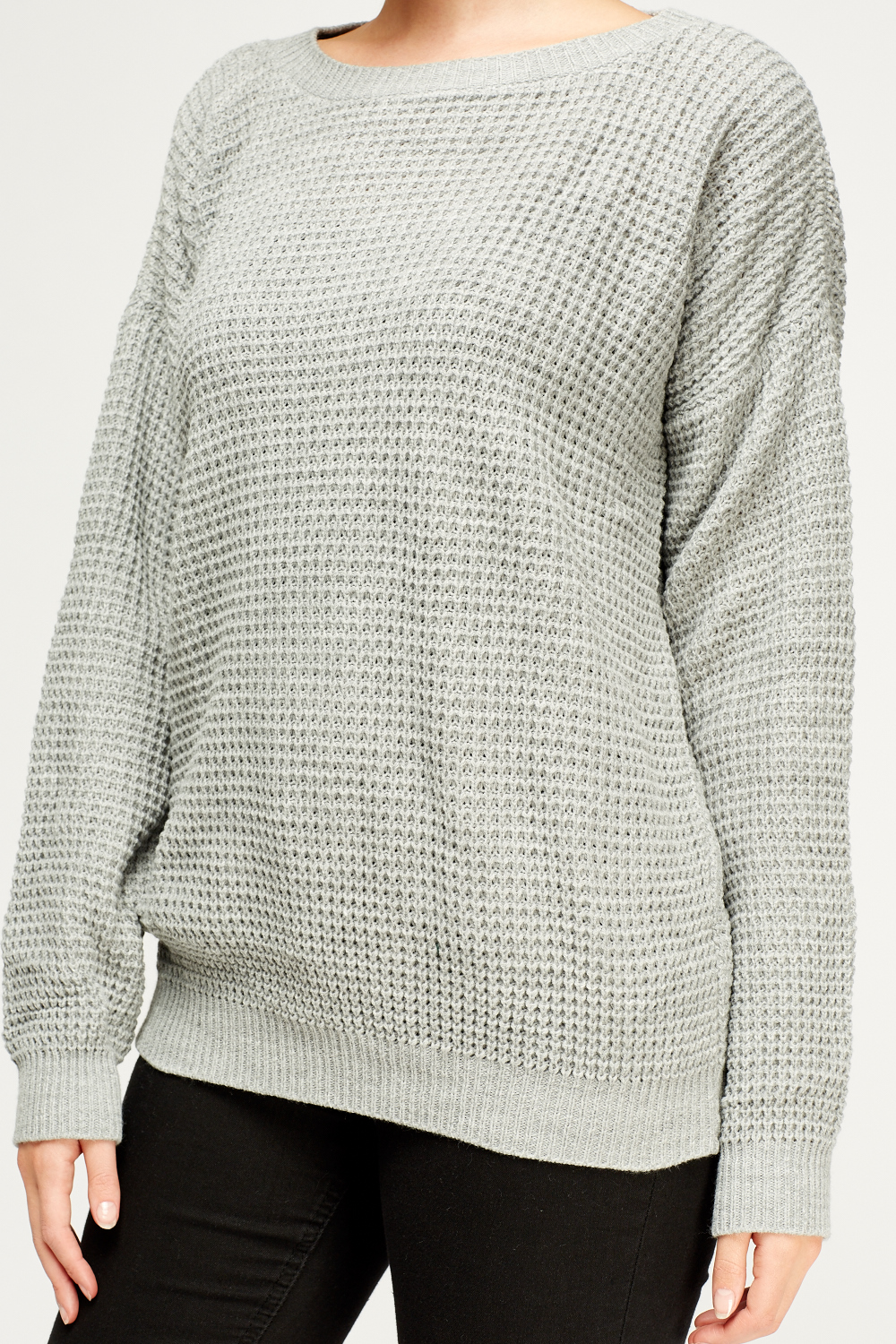 Grey Knitted Jumper - Just ?5