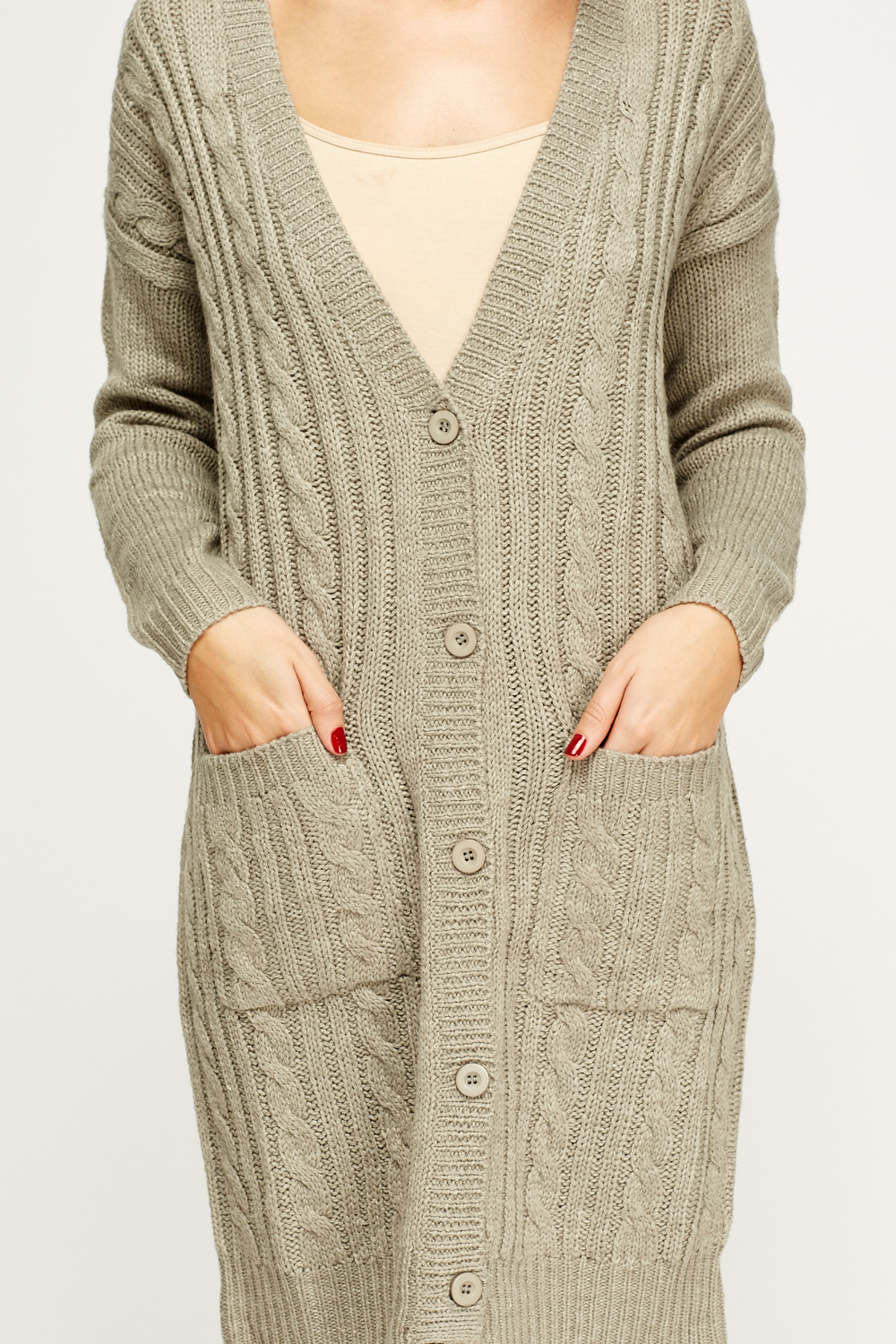 Knitted Long Cardigan - Just ?5