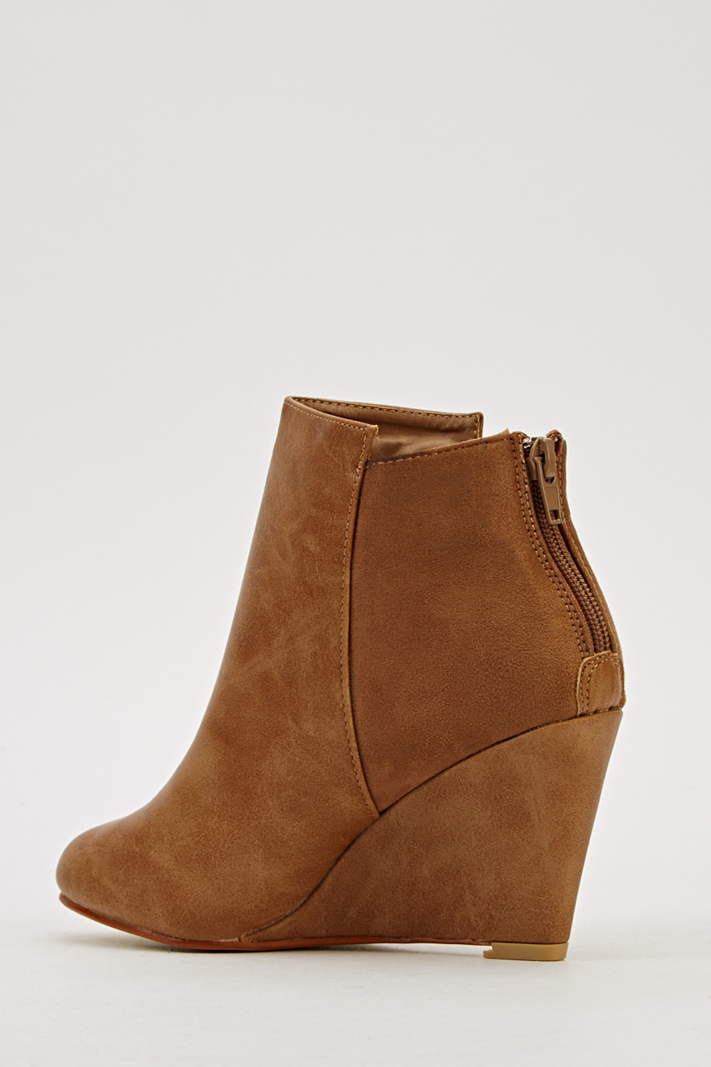 faux leather wedge boots just 163 5