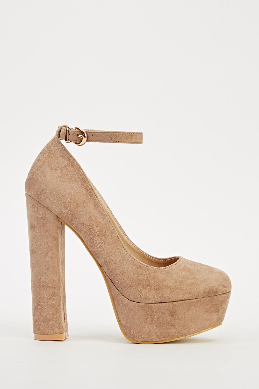 5750f9eb9f8 Suedette Platform Ankle Strap Heels - Just £5