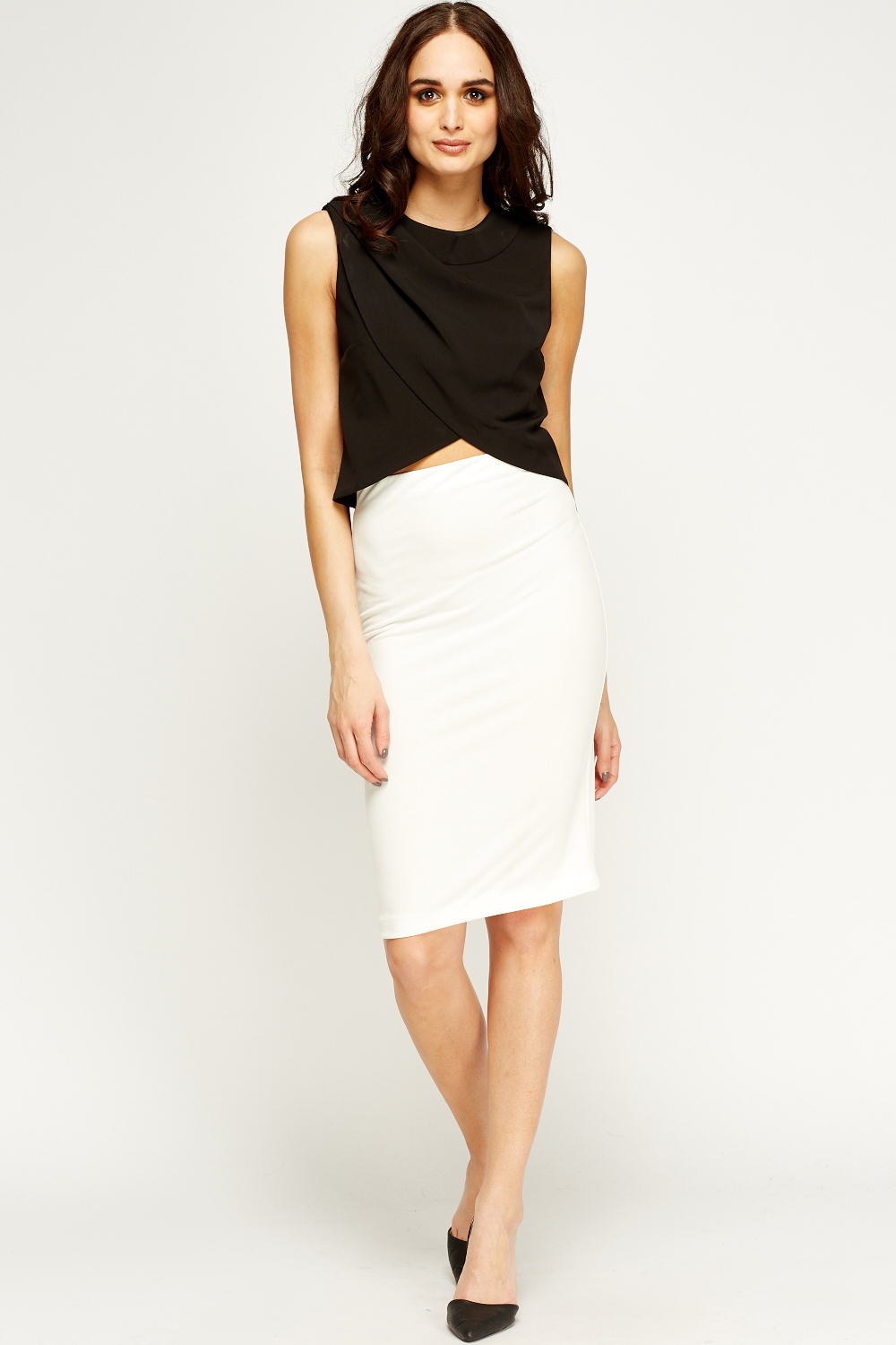 Off White Midi Pencil Skirt - Just £5