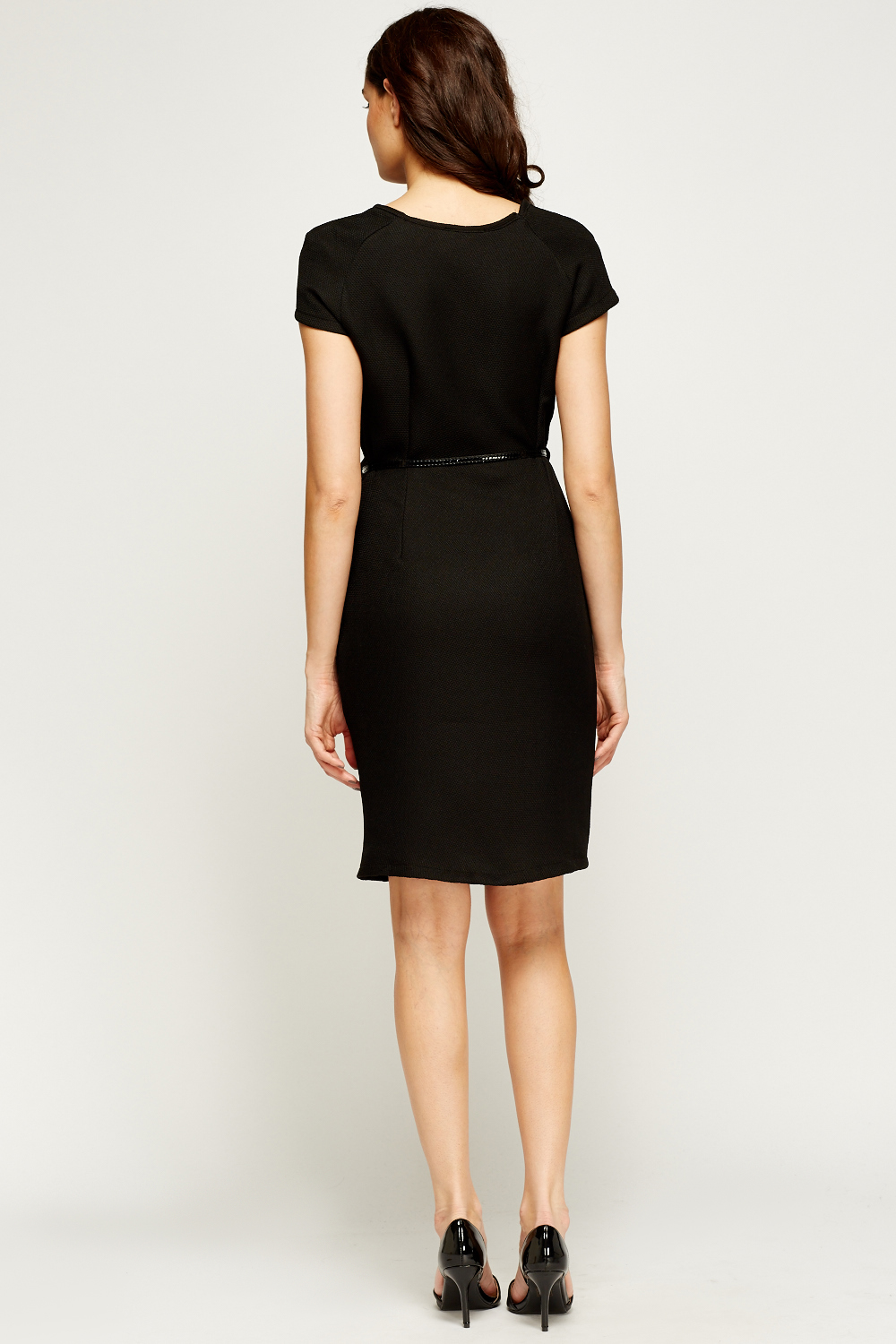 textured belted dress just 163 5