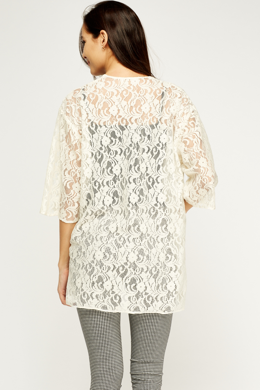 Lace Cardigans. Clothing. Women. Womens Sweaters. Search Product Result. Product - JustVH Women's 3/4 Bell Sleeve Boho Floral Kimono Cardigan Cover up Lace Stitching Blouse Top. Product Image. Price $ Product Title. JustVH Women's 3/4 Bell Sleeve Boho Floral Kimono Cardigan Cover up Lace Stitching Blouse Top.