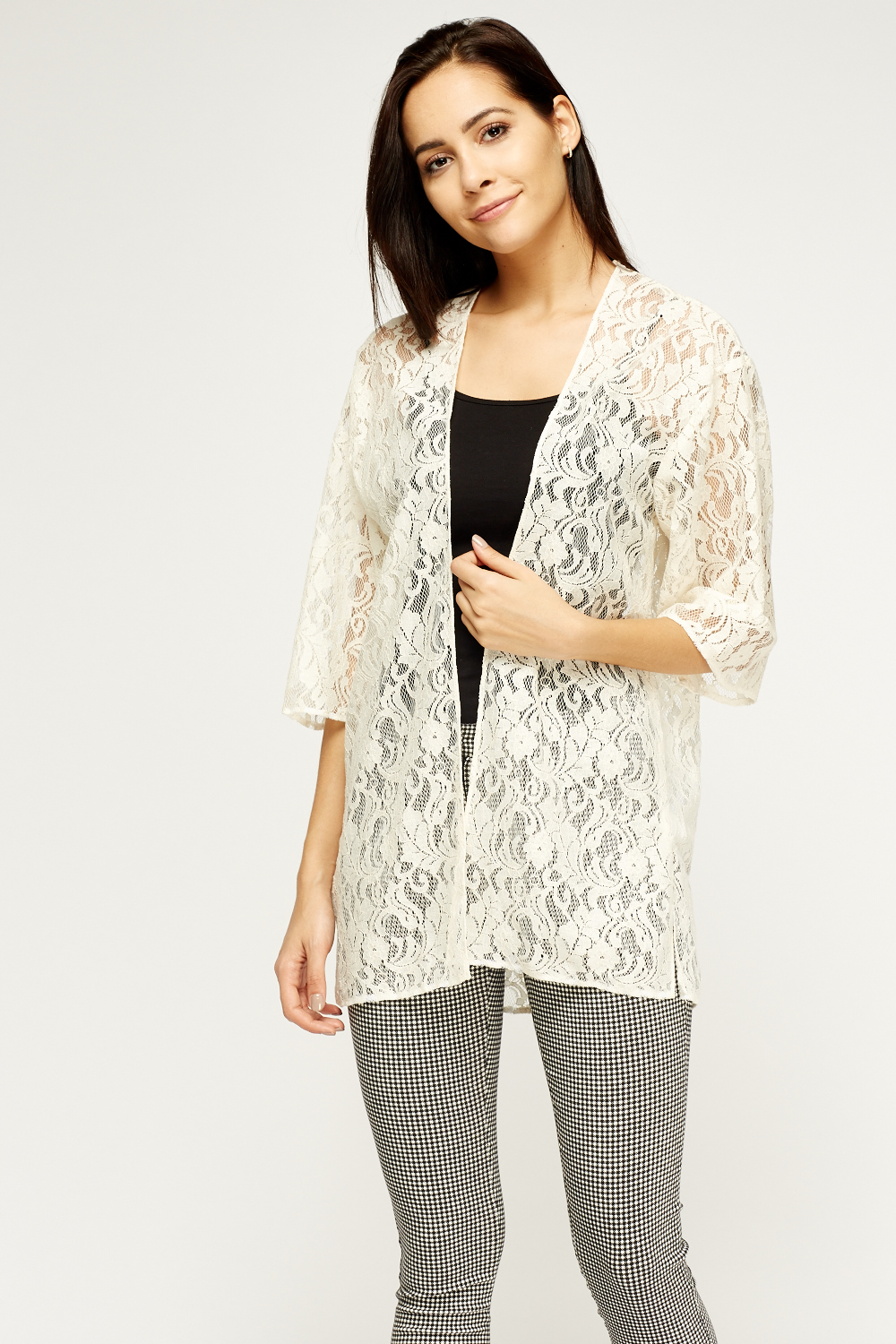 Cream Lace Cardigan - Just £5