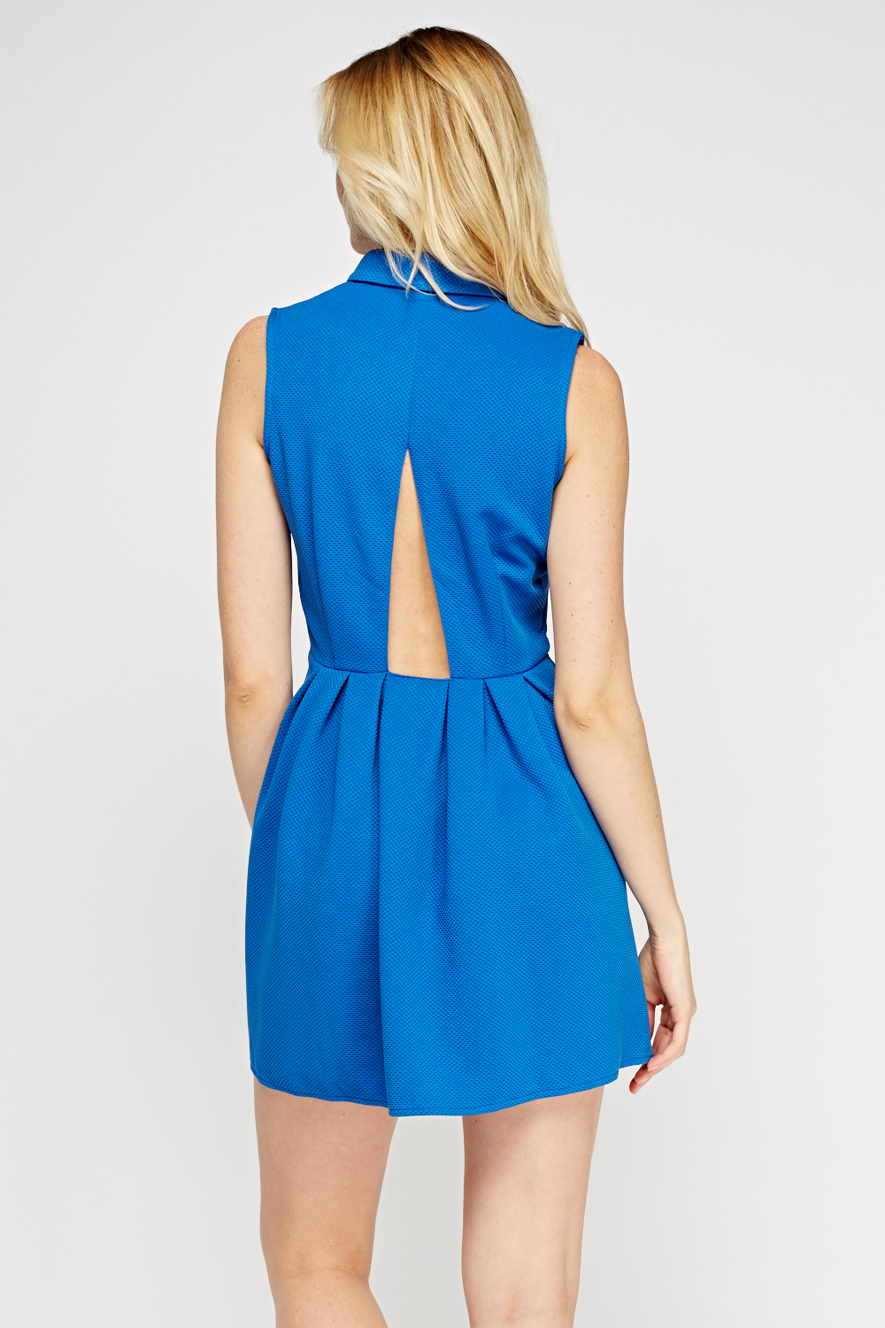 Cut Out Back Skater Dress Just 163 2