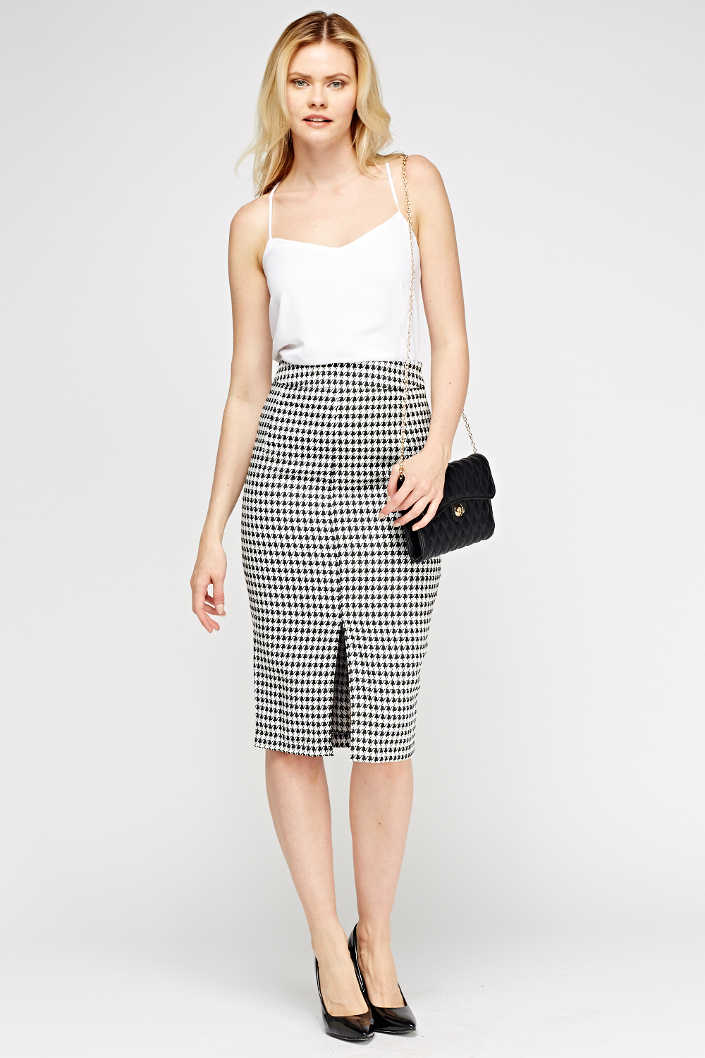 9d505c8eb Houndstooth Midi Pencil Skirt - Just £5