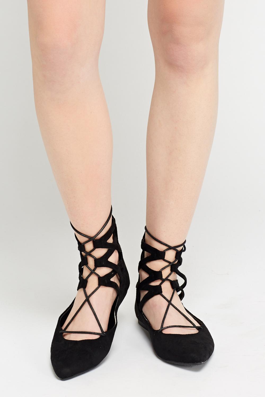 36b0726605f60e Court Flat Lace Up Sandals - Just £5