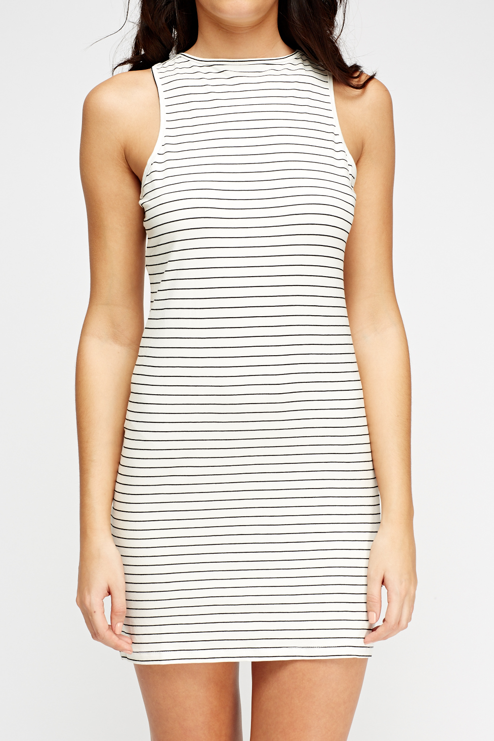 Black and white bodycon dress no dress make you look