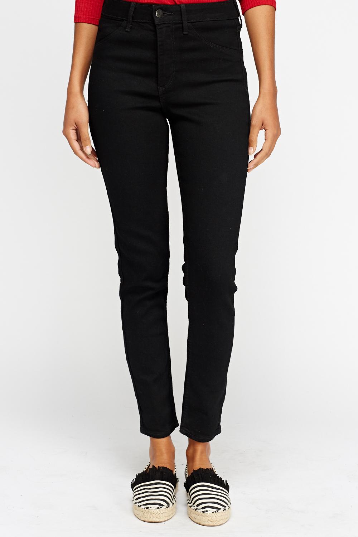 skinny high waist jeans black just 5. Black Bedroom Furniture Sets. Home Design Ideas