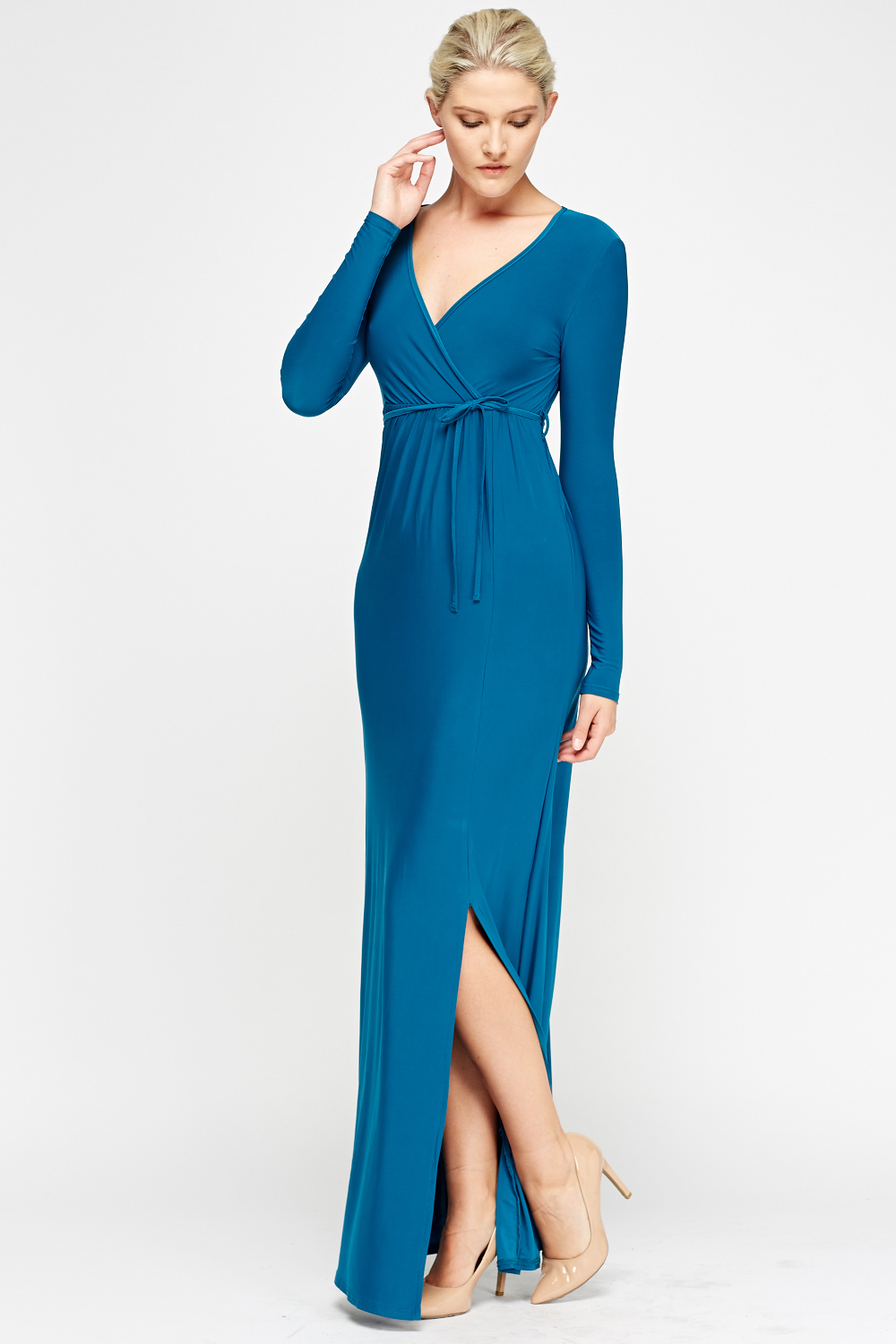 Wrapped Teal Maxi Dress - Just £5