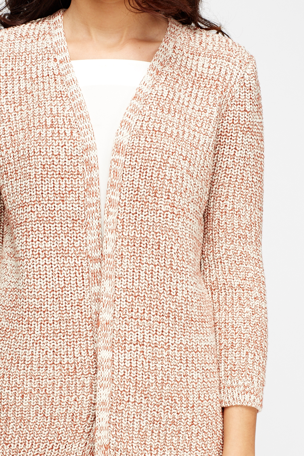 Knitting Pattern Open Front Cardigan : Open Front Knit Cardigan - Just ?5