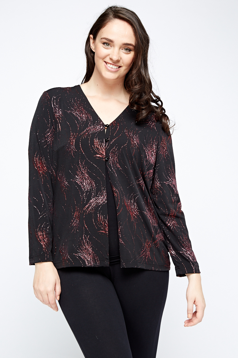 Red Glitter Cardigan Top Just 163 5