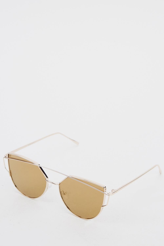 7a0fa19d56ae5c Half Moon Metal Frame Sunglasses - Just £5