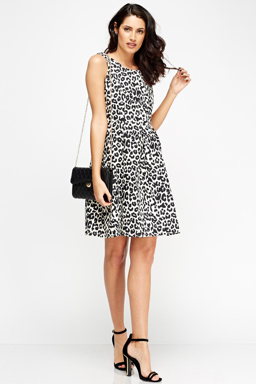 Leopard Print Skater Dress - Just £5 5490219b0