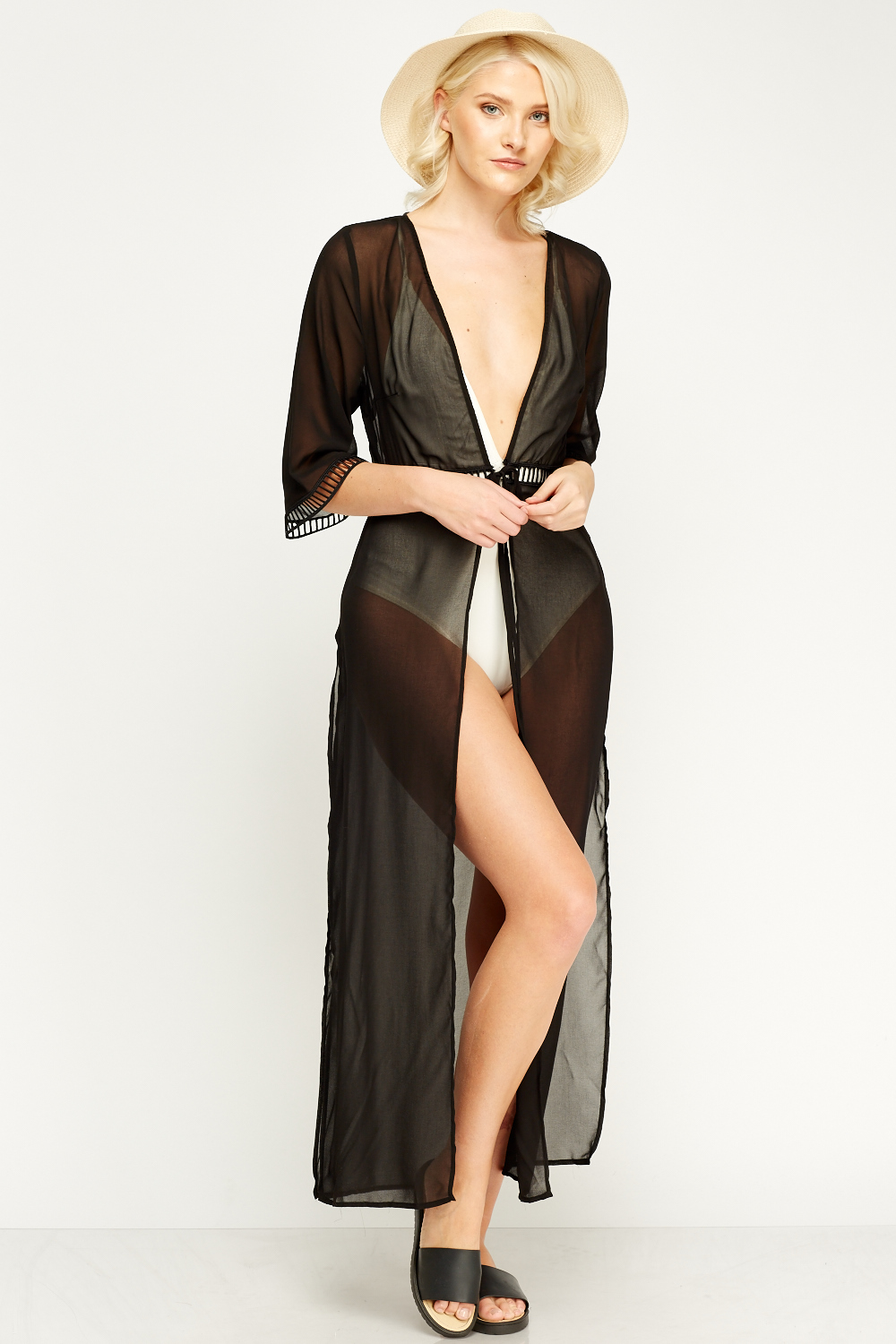 015d432092 Black Maxi Sheer Cover Up - Just £5