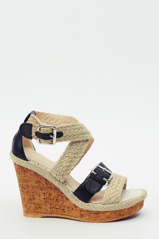 Espadrille Strappy Wedge Sandals Just 163 5
