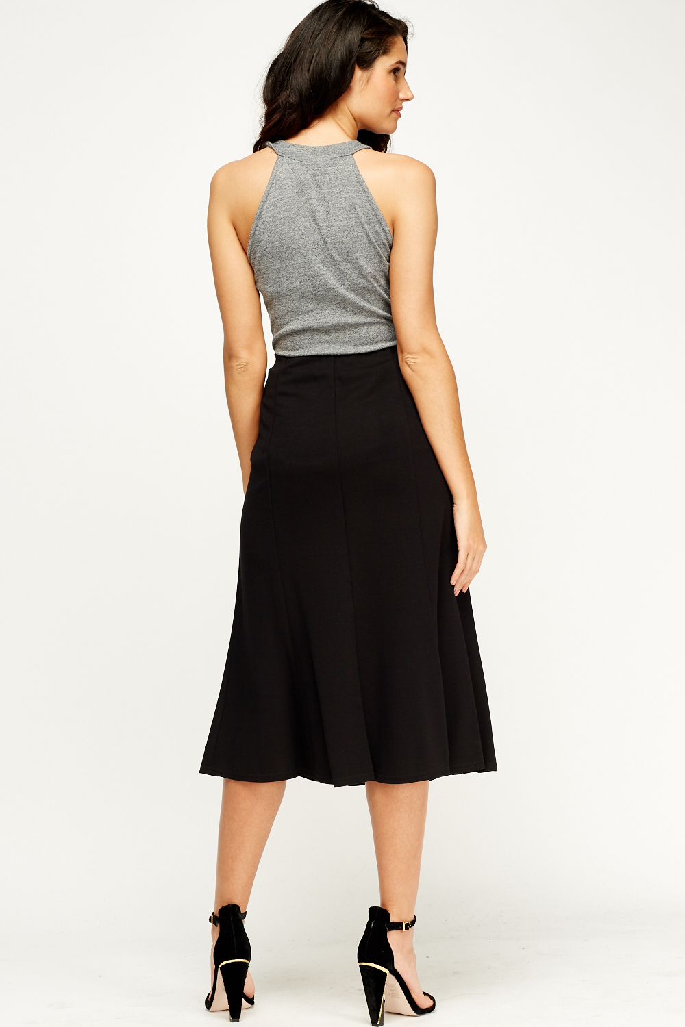 black midi skirt just 163 5