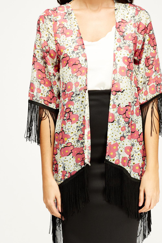 Cream Floral Kimono - Just £5