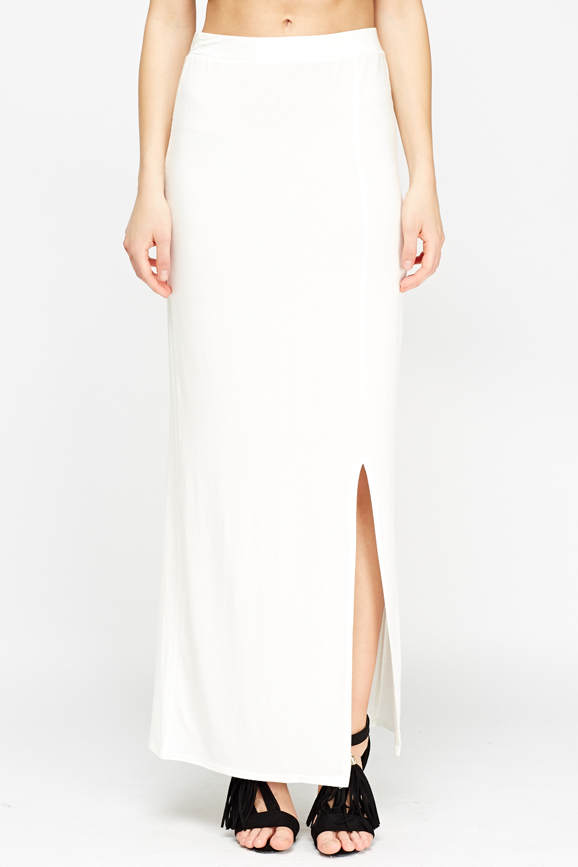 Front Slit Maxi Skirt Just 163 5